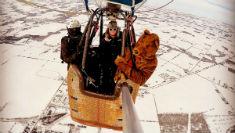 Полет на воздушном шаре вид из корзины
